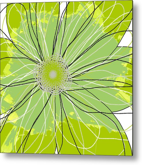 Canvas Art Metal Print featuring the mixed media Moda Flower Mix I by Ricki Mountain