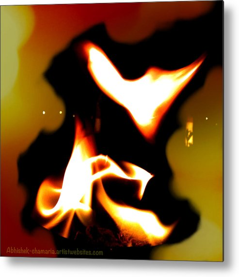 Fire Metal Print featuring the photograph Moksha Fly Free From Your Burning Desires by Abhishek Chamaria