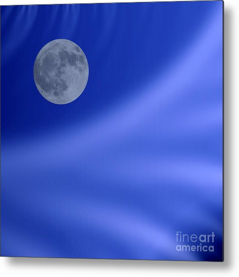 Background Metal Print featuring the digital art Moon by Odon Czintos