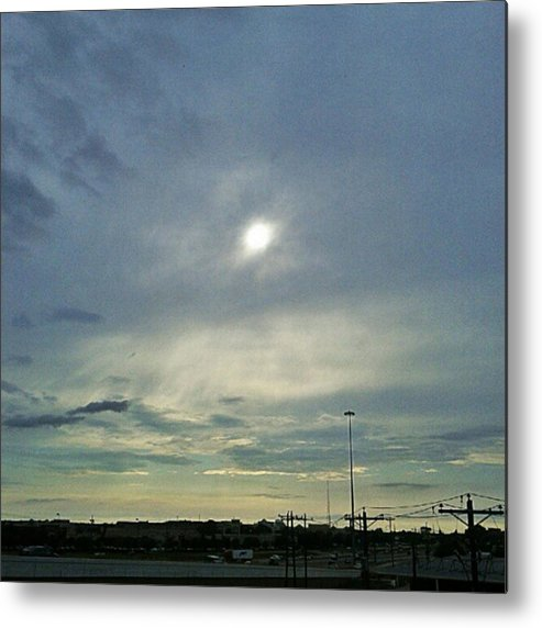 Andrography Metal Print featuring the photograph #morning #andrography #nexuss #clouds by Kel Hill