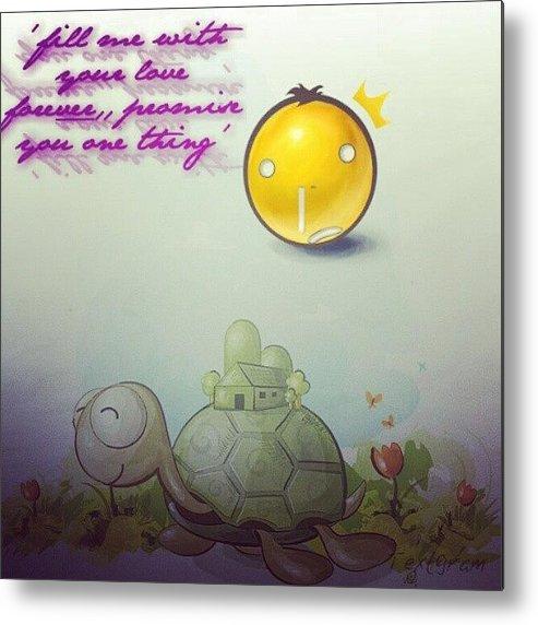noph quotes love emoticon galau metal print by yeny yustin