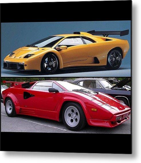 Old School Lamborghini Diablo Or Metal Print By Exotic Rides