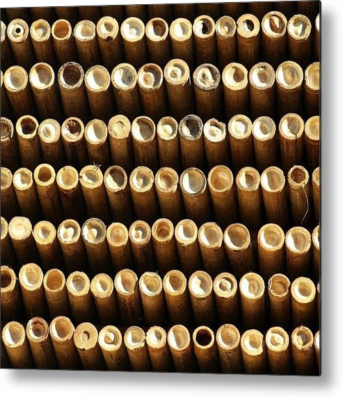 Abstract Metal Print featuring the photograph Ooooo #bamboo #thailand #travel by A Rey