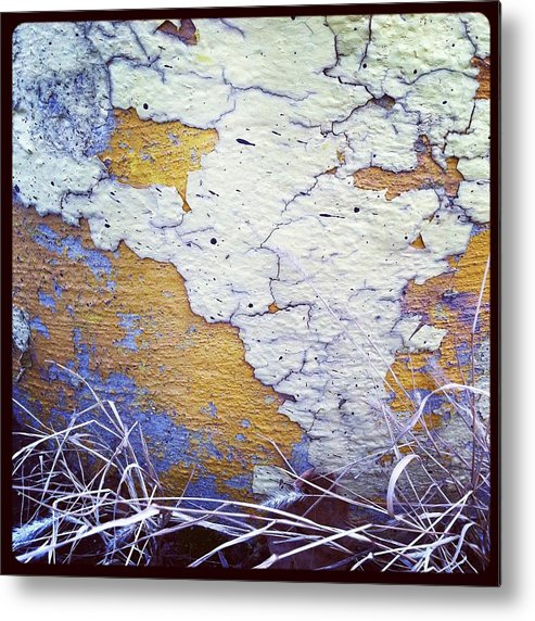 Chipping Paint Metal Print featuring the photograph Painted Concrete Map by Anna Villarreal Garbis