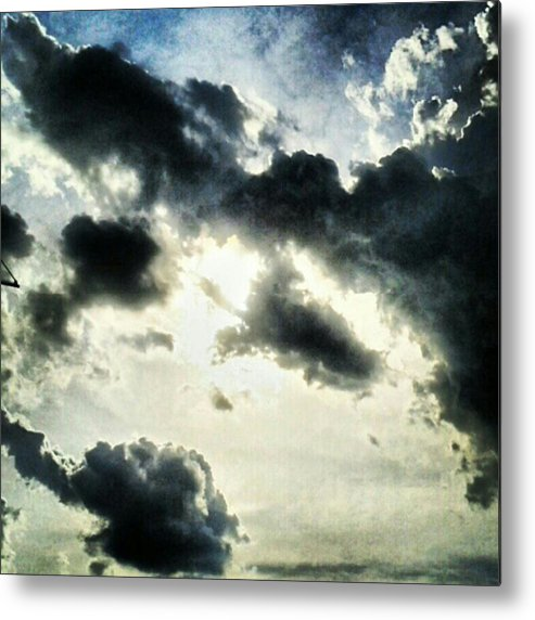 Andrography Metal Print featuring the photograph #painted #sky #instadroid #andrography by Kel Hill