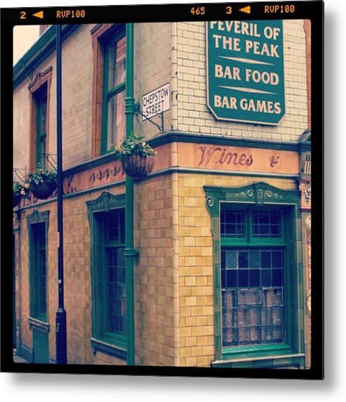 Metal Print featuring the photograph Peveril Of The Peak Pub by Chris Jones