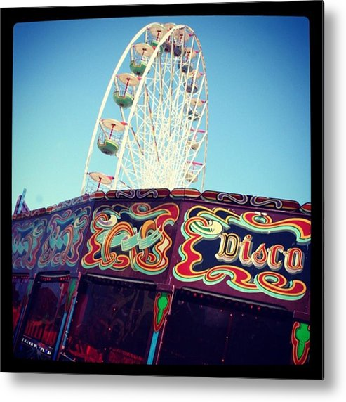 Metal Print featuring the photograph Prom Fairground Rides by Chris Jones
