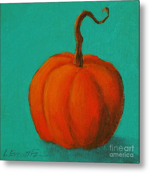 Still Life Metal Print featuring the painting Punkin by Lauren Everett Finn