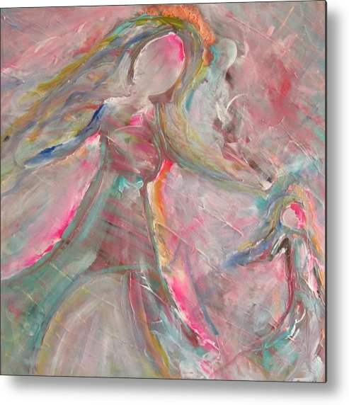 Figurative Metal Print featuring the painting Rescuing Me by Trenda Berryhill