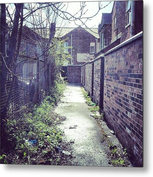 Salford Metal Print featuring the photograph #salford #manchester #houses by Abdelrahman Alawwad