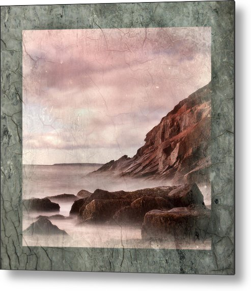 Maine Seascape Metal Print featuring the photograph Sand Beach In Texture by Don Powers