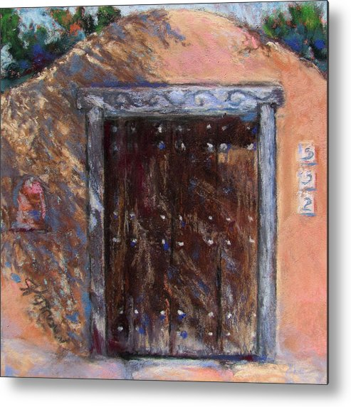 New Mexico Metal Print featuring the painting Santa Fe Shadows by Julia Patterson