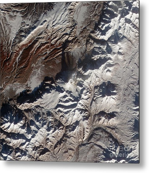 Mountainous Metal Print featuring the photograph Satellite Image Of Russias Kizimen by Stocktrek Images