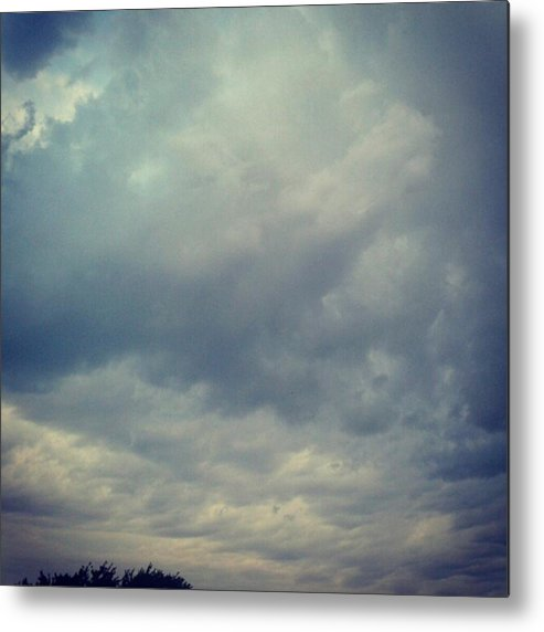 Andrography Metal Print featuring the photograph #sky #clouds #nature #andrography by Kel Hill