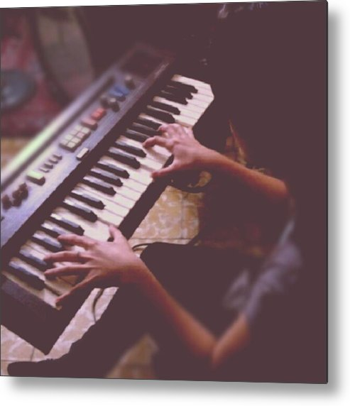 Jesus Metal Print featuring the photograph Sofi En El Piano. #piano #music by Eduardo Ribera