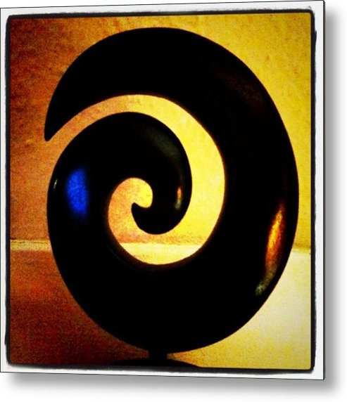 Wooden Metal Print featuring the photograph Spiral by Ken Powers