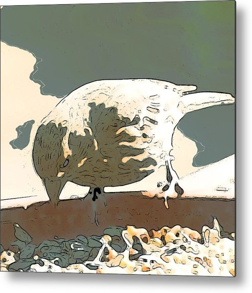 Bird Metal Print featuring the digital art Spring Bird by Artist and Photographer Laura Wrede