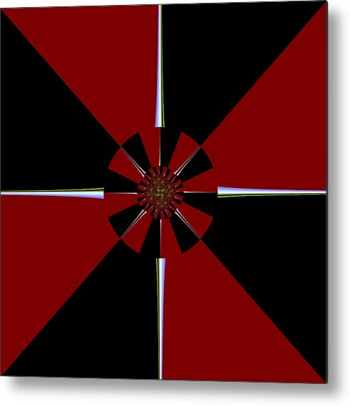 Pinwheel Metal Print featuring the digital art Starburst by David Reed