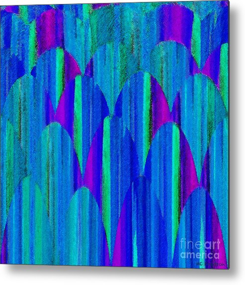 Abstract Metal Print featuring the digital art Striations by ME Kozdron