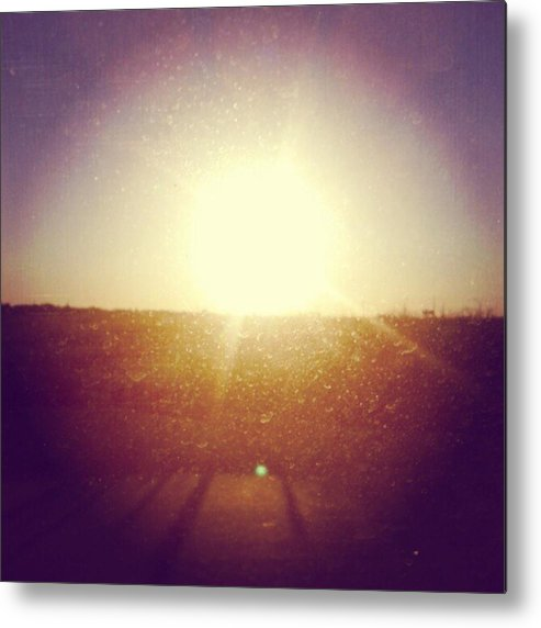 Andrography Metal Print featuring the photograph #sunrise #nature #sky #andrography by Kel Hill