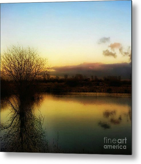 Laake Metal Print featuring the photograph Sunset Over The Lake by YoursByShores Isabella Shores