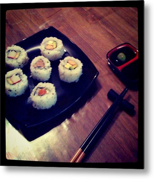 Metal Print featuring the photograph Sushi by Pablo Grippo