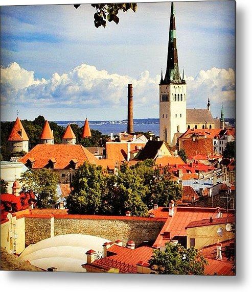 Outdoor Metal Print featuring the photograph Tallinn - Estonia by Luisa Azzolini