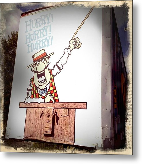 Carney Metal Print featuring the photograph The Cartoon Carney by Scott Conner