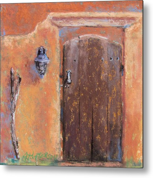 New Mexico Metal Print featuring the painting The Walking Stick by Julia Patterson