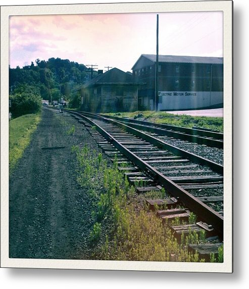 Railroad Metal Print featuring the photograph Tracks In Time by Scott Conner