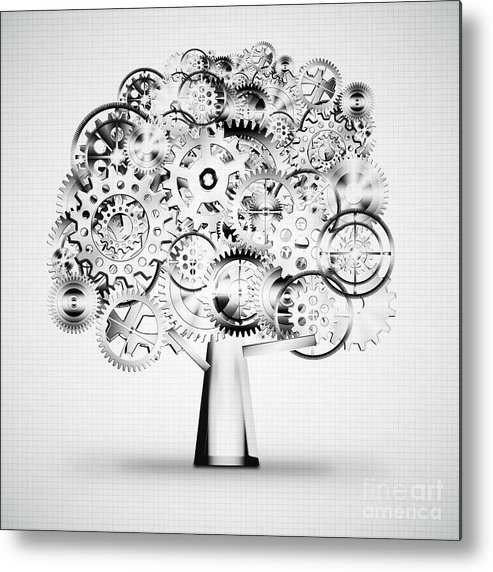 Art Metal Print featuring the photograph Tree Of Industrial by Setsiri Silapasuwanchai