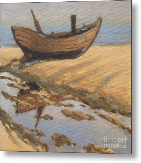 Landscape Metal Print featuring the painting Two Boats by Nikolai Kraneis