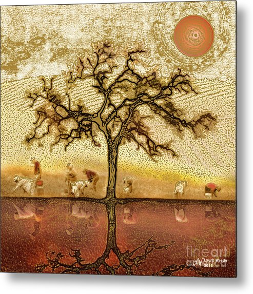 Metal Print featuring the digital art Under The California Sun by Artist and Photographer Laura Wrede