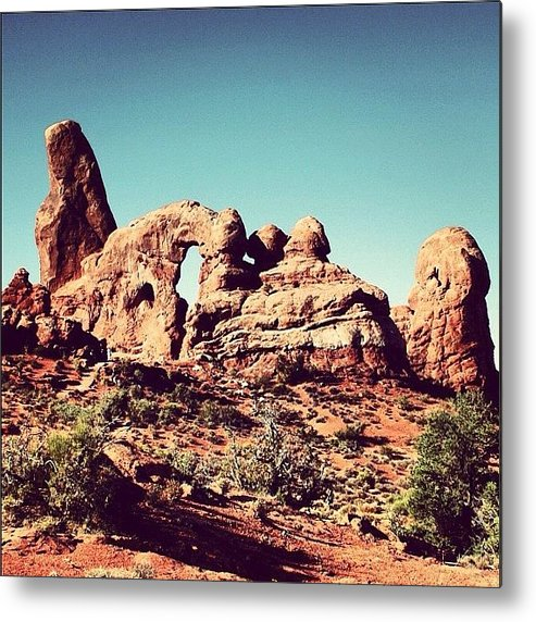 Rscpics Metal Print featuring the photograph Utah - Arches National Park by Luisa Azzolini