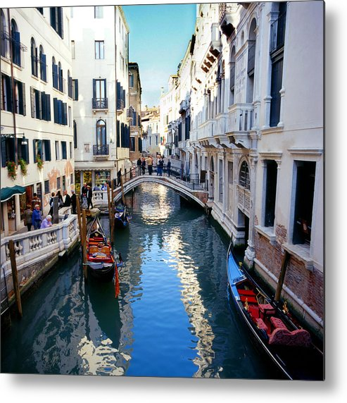 Venice Metal Print featuring the photograph Venetian Canal by Paul Cowan