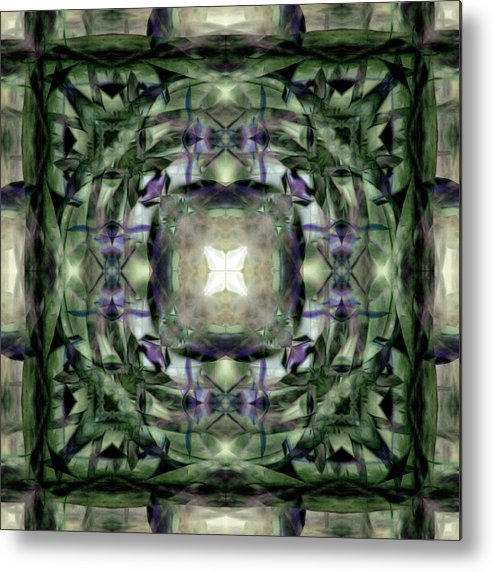 Vinquad Metal Print featuring the digital art Vinquad 182 by JaNell Golden