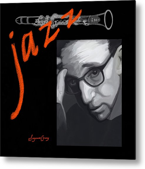 Digital Painting Metal Print featuring the digital art Woody Allen From Wild Man Blues by Suzanne Cerny