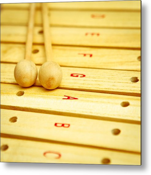 Beaters Metal Print featuring the photograph Xylophone by Tom Gowanlock