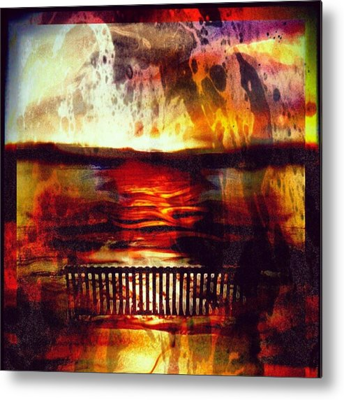 Metal Print featuring the photograph Yellowstone Hell (billirubin Remix) by Artemis Sere