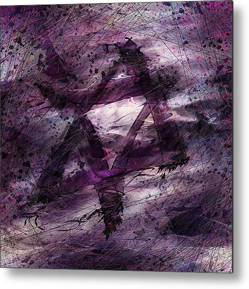 Abstract Metal Print featuring the digital art . . . When We Remembered Zion by Rachel Christine Nowicki