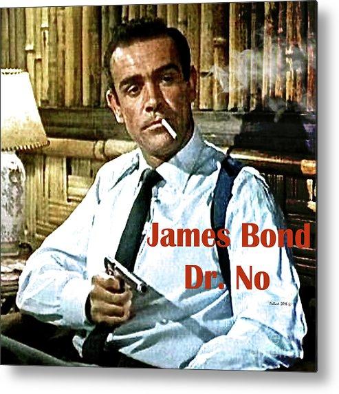 James Bond Metal Print featuring the mixed media 007, James Bond, Sean Connery, Dr No by Thomas Pollart