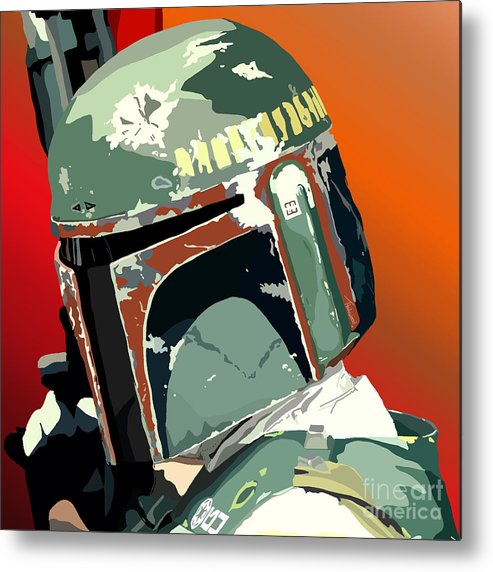 Bobba Fett Metal Print featuring the painting 067. He's No Good To Me Dead by Tam Hazlewood