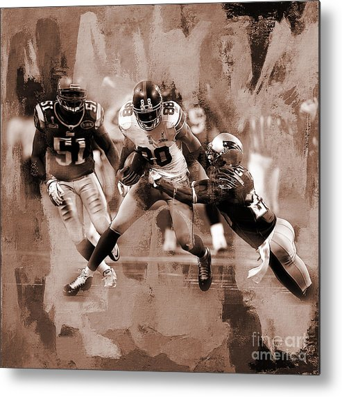 Russell Wilson Metal Print featuring the painting American Football 02 by Gull G