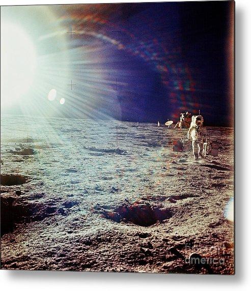 Apollo 12 Metal Print featuring the photograph Apollo 12 Astronaut by Nasa
