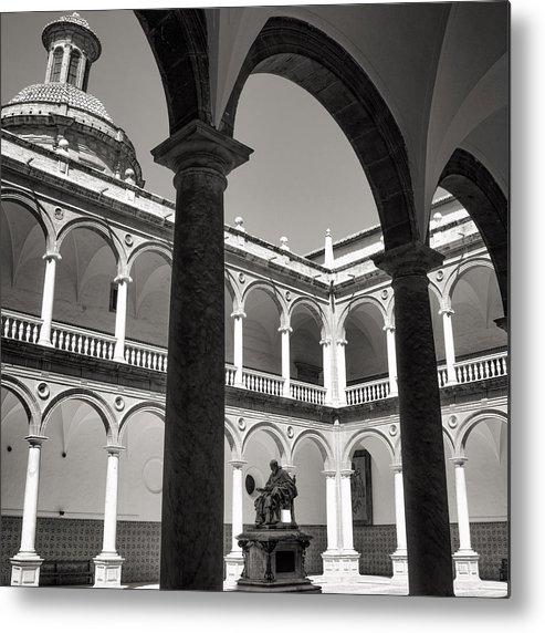 Cloister Metal Print featuring the photograph Cloister Real Colegio Seminario Del Corpus Christi by For Ninety One Days
