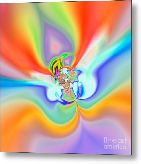 Abstract Metal Print featuring the digital art Flexibility 39c1 by Rolf Bertram