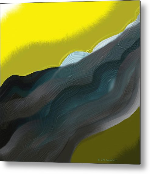 Digital Metal Print featuring the digital art Flow by J P Lambert