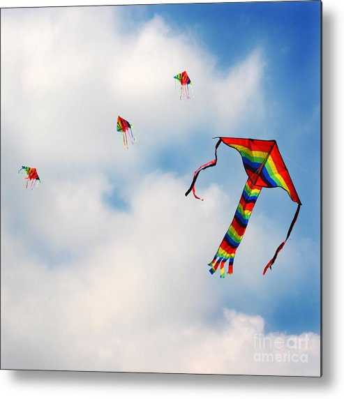 Sky Metal Print featuring the photograph High Hopes by Angel Ciesniarska