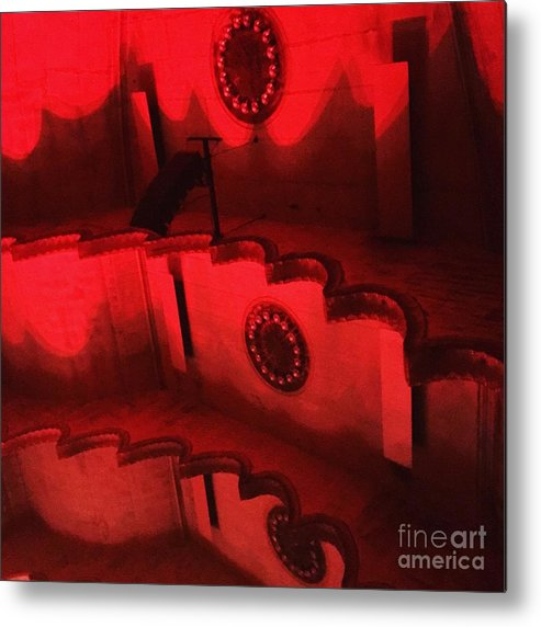 Massey Hall Metal Print featuring the photograph Hues Of Massey Hall - Red by Cheryl Mouncey