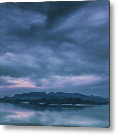 Utah Metal Print featuring the photograph Salt Lake Blues by Robert Fawcett